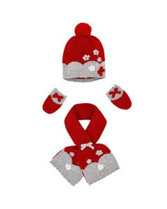 3PC HAT & SCARF SET