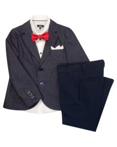 NAVY 4 PC SUIT
