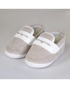 TAUPE SLIP-ON SHOES
