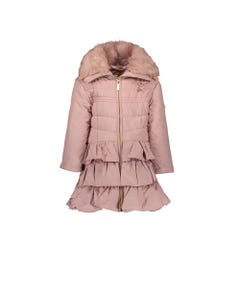 LE CHIC COAT PINK DAWN HOOD RUFFLES FUR TRIM Sizes 2-8 | C9075214.210 PINK