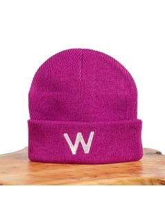 WLKN TUQUE FUSCHIA KNIT WHITE W LOGO Sizes 2-8 | D19FA-BJ02 PINK