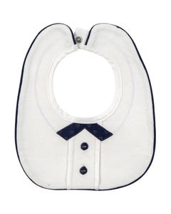 MAYORAL WHITE BIB NAVY COLLAR TRIM BUTTONS Sizes 3m | 9015 NAVY