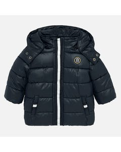 MAYORAL COAT NAVY HOODED ZIP  CLOSURE Sizes 9m-36m | 2448 NAVY
