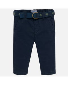 MAYORAL PANT AND BELT NAVY CHINO REGULAR FIT ADJUSTABLE WAIST Sizes 6m-36m | 2534 NAVY