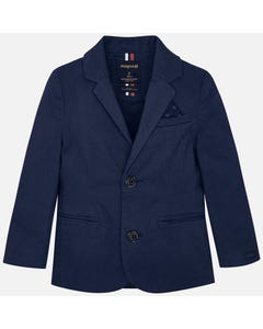 Mayoral JACKET NAVY PRINTED 2 BUTTON CLOSURE  Sizes 2-9 | 4436.007 NAVY
