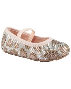 SHOE ROVER TEANA T LIGHT PINK LEOPARD PRINT WITH STRAP