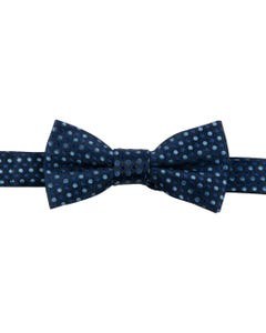 BOW TIE NAVY WITH BLUE DOTS