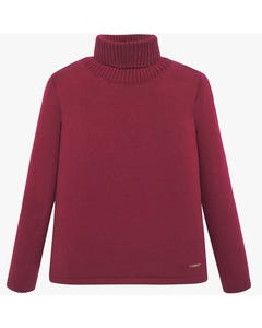 T NECK SWEATER RUBY KNIT LONG SLEEVE
