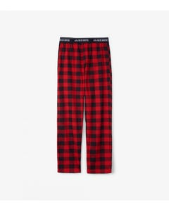 PYJAMA PANT MENS RED & BLACK JERSEY PLAID PRINT