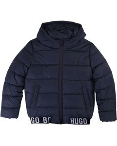 PUFFER JACKET NAVY HOODED