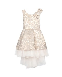 Jolene Girls Gold Embossed Dress Size 3-10 | SK806 Gold