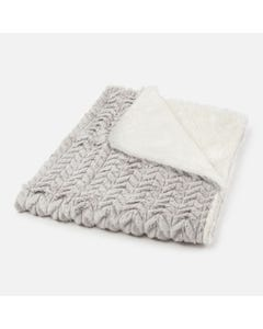 Mayoral Boys Fur Blanket Size OS | 9023 011 Grey