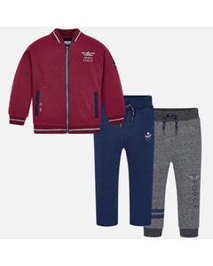 Mayoral Boys 3pc Tracksuit Size 2-9 | 4808 Burgundy