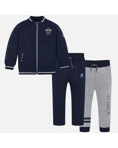 Mayoral Boys 3pc Tracksuit Size 2-9 | 4808 Navy