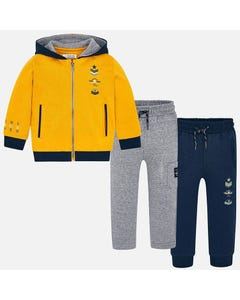 Mayoral Boys 3pc Tracksuit Size 2-9 | 4810 Yellow