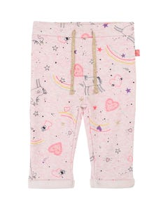 Billieblush Girls Unicorn Print Pants Size 3M-3 | U04192 Pink
