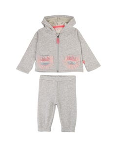 Billieblush Girls Grey Hooded Tracksuit Size 3M-3 | U08072 Grey