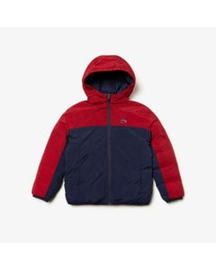 Lacoste Boys Water Repellent Jacket Size 8-14 | BJ8097 Navy