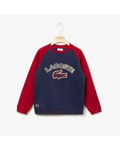 Lacoste Boys Print Sweater Size 2-10 | SJ8153 685 Navy