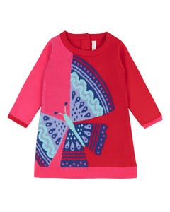 Deux par Deux Girls Sweater Dress Size 6m-10 | B20E90 Red