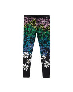 Desigual Girls Flower Print Legging Size S-XL | MARGARITAS Black