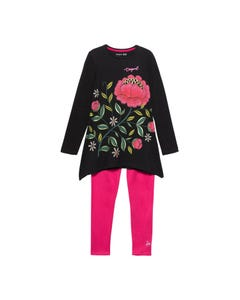 Desigual Girls Legging Set Size S-L | MILTON KEYNES Black