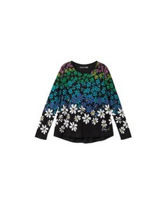 Desigual Girls Long Sleeve Top Size 4-14 | BIRMINGHAM Black