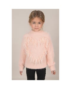 Mini Molly Girls Pink Knitted Sweater Size 6-14 | MMF432A19 Pink