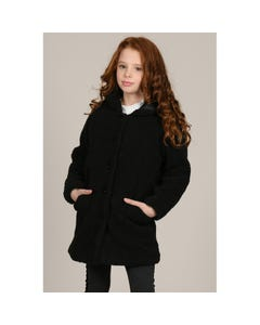 Mini Molly Girls Black Hooded Coat Size 6-14 | MMN11A19 Black