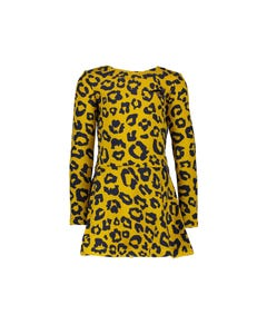 Le Chic  Girls Leopard Spot Dress Size 2-10 | C908 5808 Gold