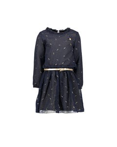 Le Chic  Girls 2Pc Dress & Belt Set Size 3-12 | C908 5830 Navy