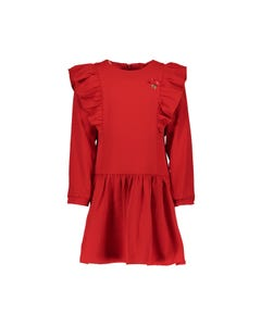 Le Chic  Girls Ruffle Red Dress Size 3-12 | C908 5832 263 Red