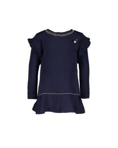Le Chic  Girls Navy Knit Dress Size 6m-2 | C908 7800 Navy