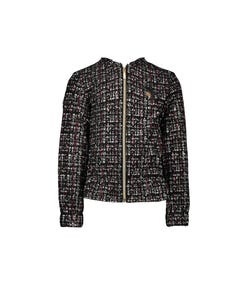 Le Chic  Girls Tweed Glitter Jacket Size 4-12 | C909 5128 Black
