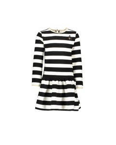 Le Chic  Girls Striped Dress Size 2-10 | C909 5809 Black