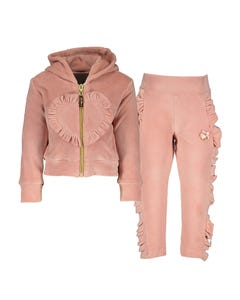 Le Chic  Girls 3Pc Tracksuit Size 3m-2 | C909 7325 7475 7625 Pink