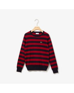 Lacoste Boys Striped Sweater Size 2-14 | AJ8083 685 Navy