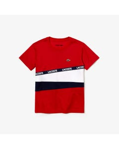 Lacoste Boys Short Sleeve Shirt Size 4-16 | TJ9464 YY2 Red