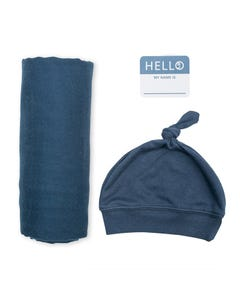 Lulujo Boys Swaddle Blanket Set Size OS | LJ647 Navy