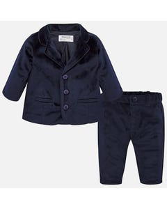 Mayoral Boys 3Pc Velour Suit Size 1m-18m | 2528 078 2101 53 Navy
