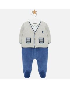 Mayoral Boys Blue Sleeper Size 1m-18m | 2608 Grey
