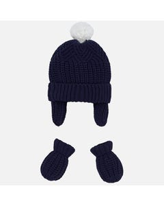 Mayoral Boys 2Pc Hat And Mitten Set Size 3m-18m | 9180 Navy