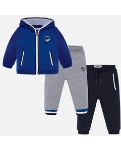 Mayoral Boys 3Pc Tracksuit Set Size 6m-36m | 918 Blue