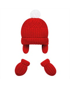 Mayoral Boys 2Pc Hat And Mitten Set Size 3m-18m | 9180 Burgundy