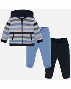 Mayoral Boys 3Pc Tracksuit Set Size 6m-36m | 2844 Stripe