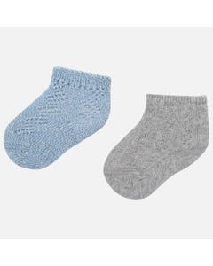 Mayoral Boys 2Pc Sock Set Size 3m-18m | 9162 Blue