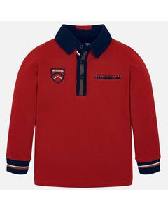 Mayoral Boys Polo Top Size 2-9 | 4110 Red