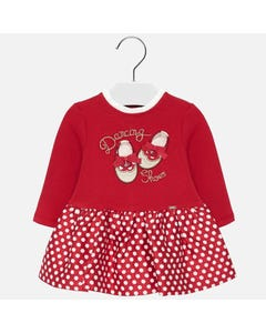 Mayoral Girls Knit Bodice Dress Size 6m-36m | 2929 Red