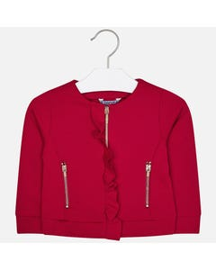 Mayoral Girls Frill Red Jacket Size 2-9 | 4425 Red