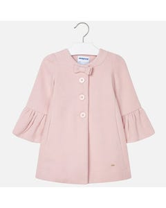 Mayoral Girls Bell Sleeve Coat Size 2-9 | 4412 029 Pink